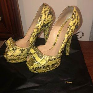 Authentic Fendi peep-toe heels